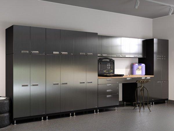 Superieur Kit 6   Double Storage Desk Garage Cabinet System | 24u201dD X 210u201dW X 84u201dH