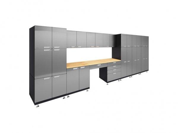 Double Storage Desk Garage Cabinet System - Hercke Kit 6
