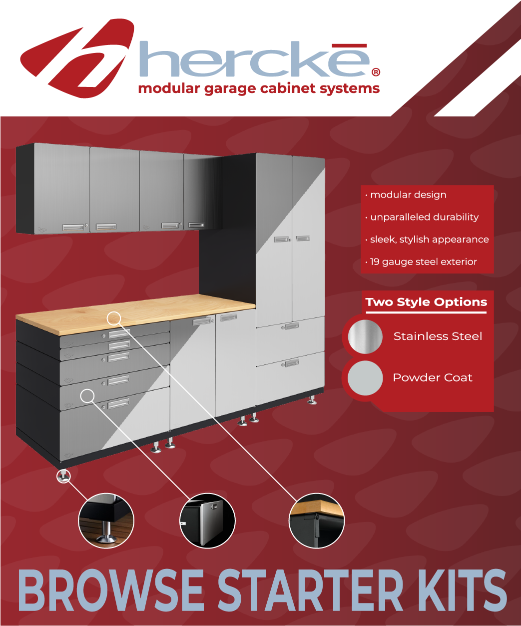 Superb Hercke Garage Cabinets