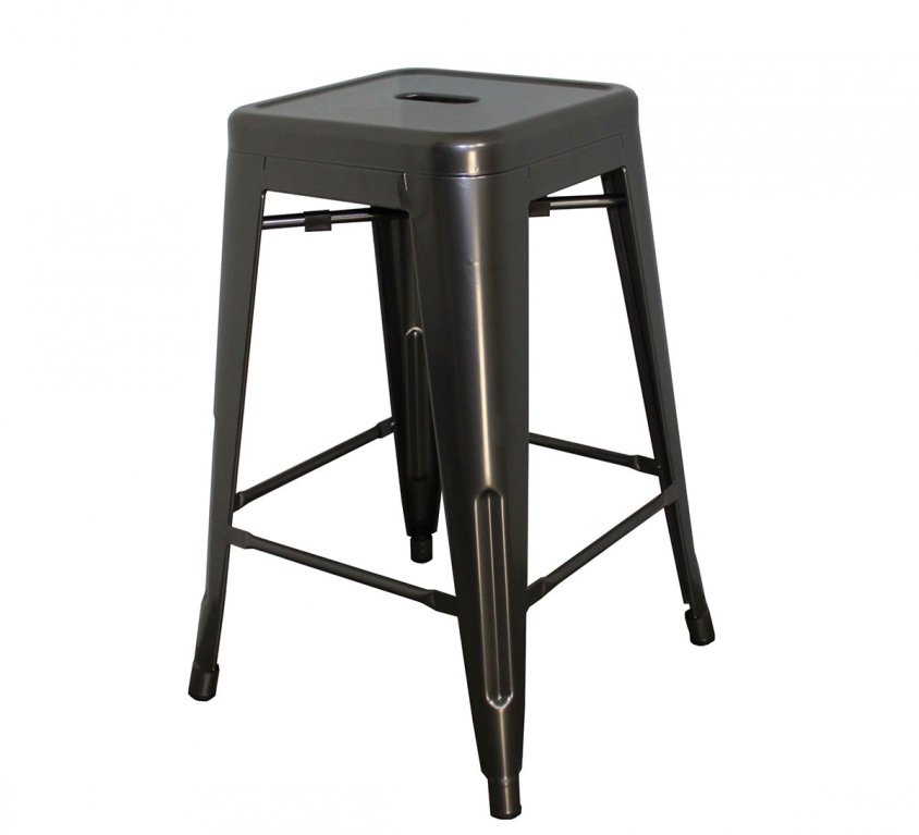 24″ Stool | 4 Pack | Powder Coated Gun Metal