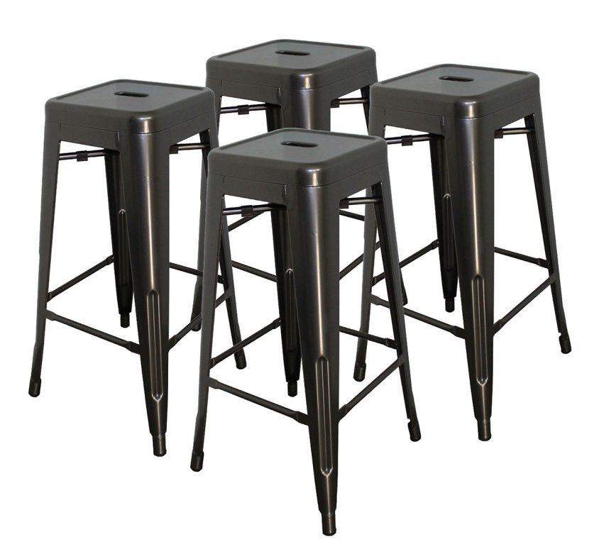 30″ Stool | 4 Pack | Powder Coated Gun Metal